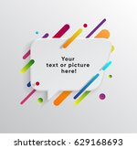 vector background with paper... | Shutterstock .eps vector #629168693
