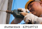 construction worker holding the ...   Shutterstock . vector #629169713