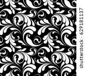 floral seamless pattern.... | Shutterstock .eps vector #629181137
