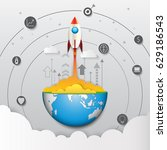 start up business strategy... | Shutterstock .eps vector #629186543