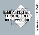 abstract graphic art  vector... | Shutterstock .eps vector #629190443