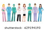 medical team isolated on white  ... | Shutterstock .eps vector #629194193