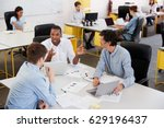 young male business team... | Shutterstock . vector #629196437