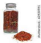 Red Chili Pepper Flakes In Jar...