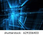 computer generated abstract...   Shutterstock . vector #629206403
