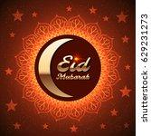 ramadan greeting card for...   Shutterstock .eps vector #629231273