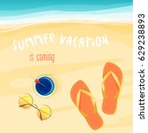 vector illustration of summer... | Shutterstock .eps vector #629238893