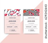 trendy abstract business card... | Shutterstock .eps vector #629242643