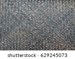 striped woven from bamboo close ... | Shutterstock . vector #629245073