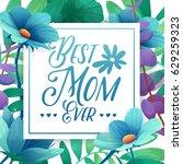 template design banner best mom ... | Shutterstock .eps vector #629259323