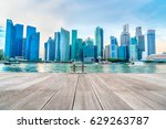 singapore financial district... | Shutterstock . vector #629263787