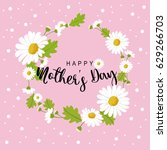 happy mother's day banner with... | Shutterstock .eps vector #629266703