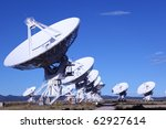 Radiotelescopes  at the Very Large Array, the National Radio Observatory in New Mexico - stock photo