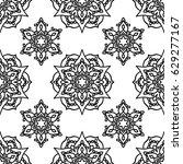 vector  illustration  mandala ... | Shutterstock .eps vector #629277167