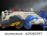 boxing gloves black and blue... | Shutterstock . vector #629282597