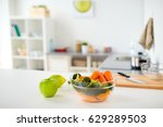 healthy eating  cooking and... | Shutterstock . vector #629289503