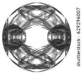abstract fractal illustration... | Shutterstock . vector #629296007