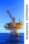 offshore production platform in ... | Shutterstock . vector #629335643