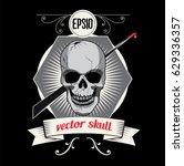 skull graphic design. vector... | Shutterstock .eps vector #629336357