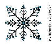snowflake christmas decoration... | Shutterstock .eps vector #629339717
