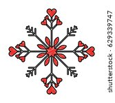 snowflake christmas decoration... | Shutterstock .eps vector #629339747