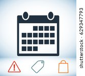 calendar icon  stock vector...