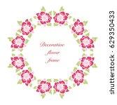 decorative flowers frame.... | Shutterstock .eps vector #629350433