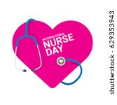 vector international nurse day... | Shutterstock .eps vector #629353943