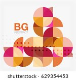 colorful circle elements.... | Shutterstock .eps vector #629354453