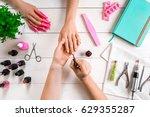 closeup shot of a woman in a... | Shutterstock . vector #629355287