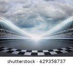 track arena 3d rendering   Shutterstock . vector #629358737