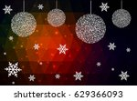 dark red vector christmas... | Shutterstock .eps vector #629366093