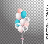 bunch of colorful  balloons... | Shutterstock .eps vector #629371517