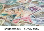variety of middle east banknotes | Shutterstock . vector #629375057