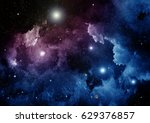 stars of a planet and galaxy in ...   Shutterstock . vector #629376857