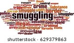 smuggling word cloud concept.... | Shutterstock .eps vector #629379863
