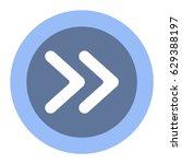 arrow icon  flat design style | Shutterstock .eps vector #629388197