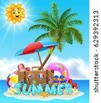 summer vacation background | Shutterstock . vector #629392313