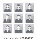 avatar profile picture icon set ... | Shutterstock .eps vector #629394953