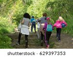 mothers with children on the... | Shutterstock . vector #629397353