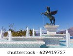 statue of pegasus  corinth ... | Shutterstock . vector #629419727