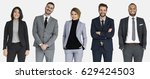 diverse business people set... | Shutterstock . vector #629424503