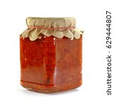 ajvar   traditional macedonian... | Shutterstock . vector #629444807