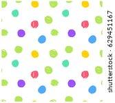 cute simple seamless pattern.... | Shutterstock .eps vector #629451167