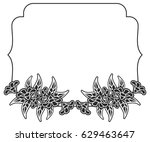 black and white frame with...   Shutterstock .eps vector #629463647