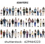 group of asian people set... | Shutterstock . vector #629464223