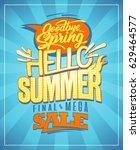 hello summer  new summer... | Shutterstock .eps vector #629464577