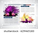 brochure or magazine layout ... | Shutterstock .eps vector #629465183