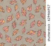 creative seamless pattern of... | Shutterstock .eps vector #629466917