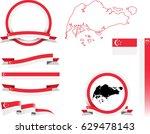singapore banner set. vector...   Shutterstock .eps vector #629478143